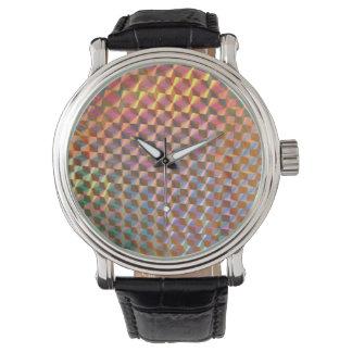 diseño colorido de la fotografía olográfica del relojes de mano