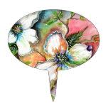 Diseño colorido de la magnolia decoración para tarta