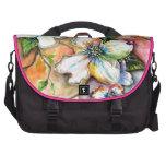 Diseño colorido de la magnolia bolsa de ordenador