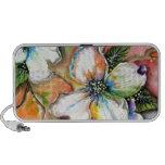 Diseño colorido de la magnolia laptop altavoces