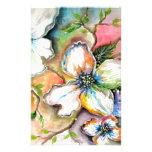 Diseño colorido de la magnolia  papeleria