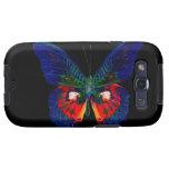 Diseño colorido de la mariposa contra el contexto  galaxy SIII cárcasas