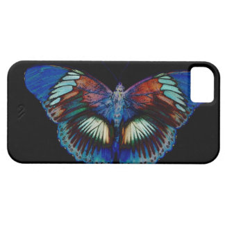 Diseño colorido de la mariposa contra el contexto iPhone 5 funda
