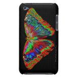 Diseño colorido de la mariposa contra el contexto  iPod touch protectores