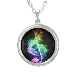 Diseño colorido de la nota musical colgante redondo