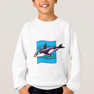 diseño colorido de la orca playeras