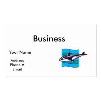 diseño colorido de la orca tarjeta de visita