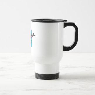 diseño colorido de la orca taza de café