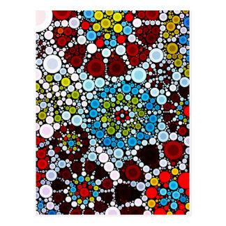 Diseño colorido de las burbujas de los círculos de postal