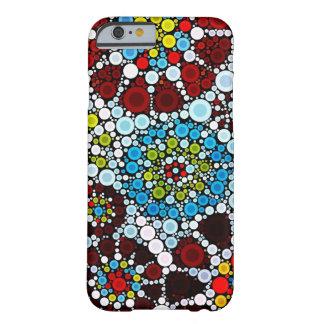 Diseño colorido de las burbujas de los círculos funda de iPhone 6 barely there