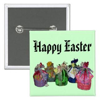 Diseño colorido de las cestas de Pascua Pins