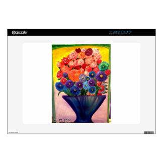 Diseño colorido de las floraciones calcomanía para portátil