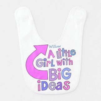 """Diseño colorido de las """"ideas grandes"""" del texto baberos para bebé"""
