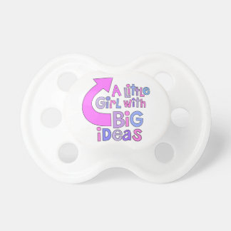 """Diseño colorido de las """"ideas grandes"""" del texto chupetes de bebé"""