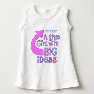 """Diseño colorido de las """"ideas grandes"""" del texto vestido"""