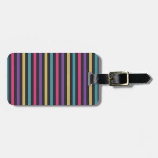 Diseño colorido de las rayas etiqueta de maleta