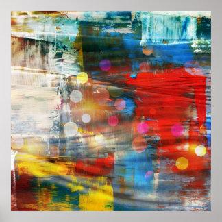 Diseño colorido de las salpicaduras de la pintura  póster