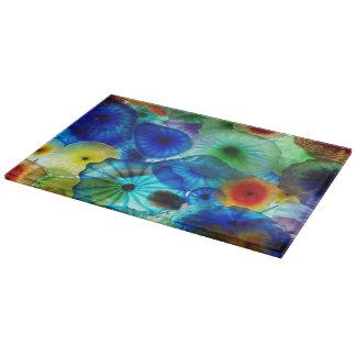 Diseño colorido de las tablas de cortar de los reg