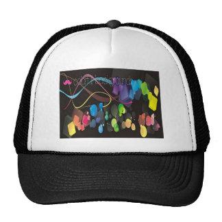 Diseño colorido de los fondos gorras