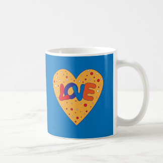 Diseño colorido del amor taza