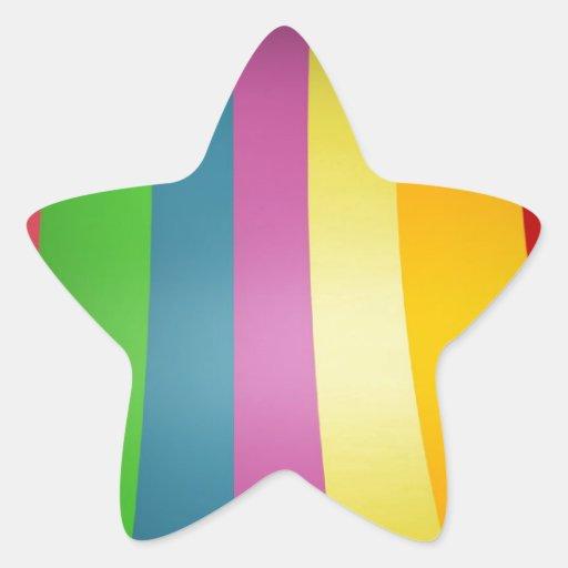 Diseño colorido del arco iris colcomania cuadrada