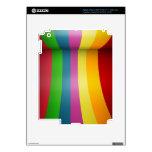 Diseño colorido del arco iris iPad 3 pegatina skin