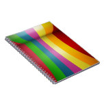 Diseño colorido del arco iris libreta espiral