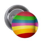 Diseño colorido del arco iris pins