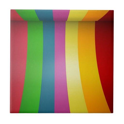 Diseño colorido del arco iris tejas