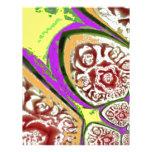 Diseño colorido del art déco plantilla de membrete