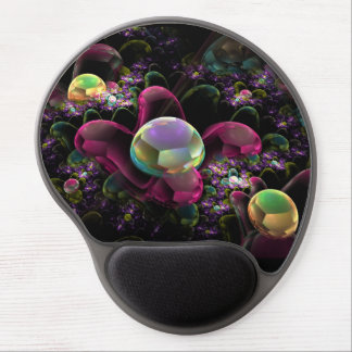 Diseño colorido del arte abstracto alfombrillas de raton con gel