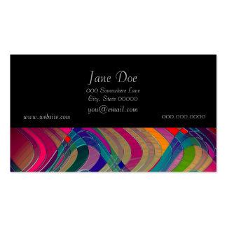 Diseño colorido del arte abstracto de la diversión tarjetas de visita