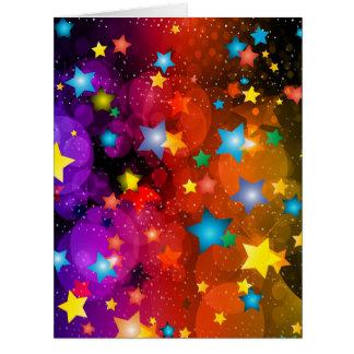 Diseño colorido del arte abstracto de las tarjeta de felicitación grande