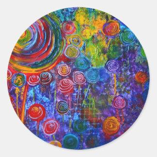 Diseño colorido del arte de los remolinos del