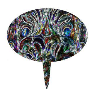 Diseño colorido del arte pop del efecto del vitral palillos de tarta