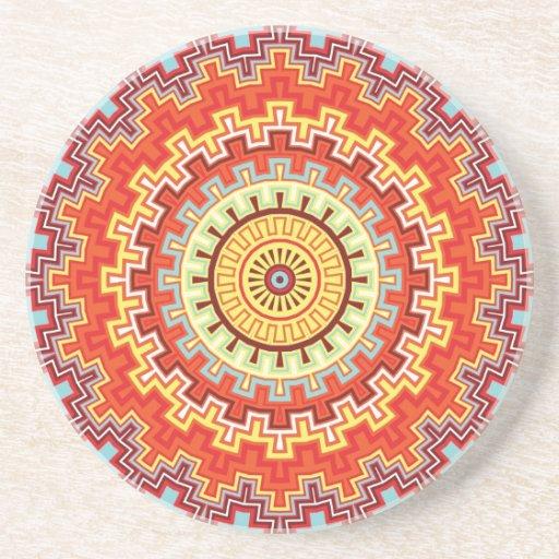 Diseño colorido del caleidoscopio de la mandala de posavasos manualidades
