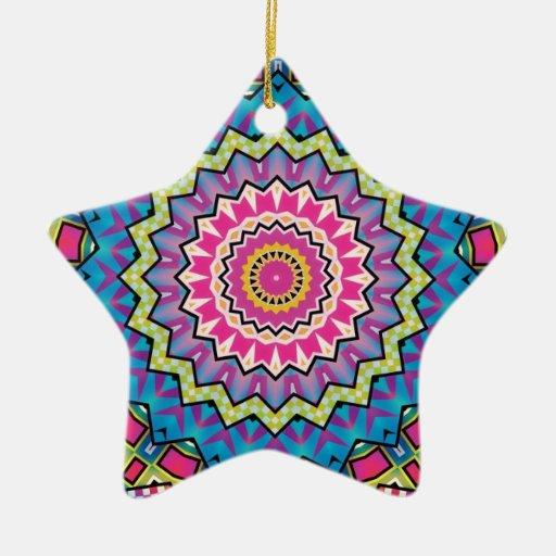 Diseño colorido del caleidoscopio ornamentos de navidad