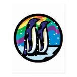diseño colorido del círculo del pingüino