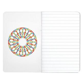 Diseño colorido del extracto de la rueda cuaderno