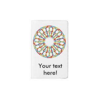 Diseño colorido del extracto de la rueda funda para libreta y libreta pequeña moleskine