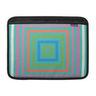 Diseño colorido del extracto de los cuadrados funda macbook air