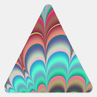 Diseño colorido del extracto del fractal pegatina triangular