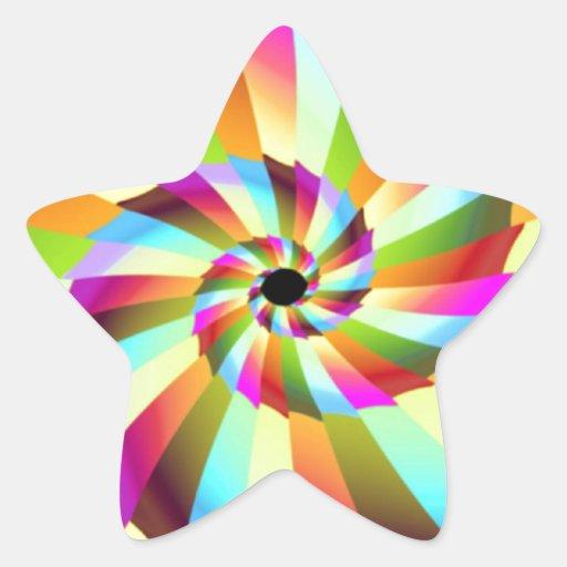 Diseño colorido del extracto del molinillo de colcomanias forma de estrellaes personalizadas
