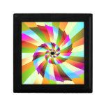 Diseño colorido del extracto del molinillo de vien caja de regalo