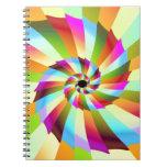 Diseño colorido del extracto del molinillo de vien libreta espiral