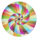 Diseño colorido del extracto del molinillo de vien platos