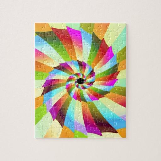 Diseño colorido del extracto del molinillo de vien rompecabeza