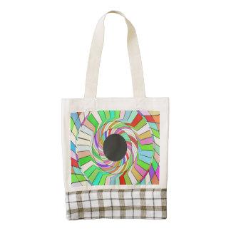 Diseño colorido del extracto del torbellino bolsa tote zazzle HEART