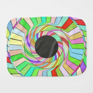 Diseño colorido del extracto del torbellino paños para bebé