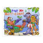 Diseño colorido del fiesta de la playa tarjetas postales